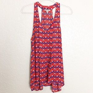 EUC Lucky Brand chevron print swing tank top